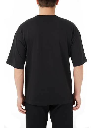 Champion  Regular Fit Bisiklet Yaka % 100 Pamuk T Shirt Erkek T Shırt 214282 Nbk Kk001 Siyah